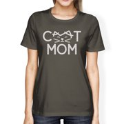 ba3b9f34 Cat Mom Womens Dark Grey T Shirt Cute Graphic Tee Gifts For Moms