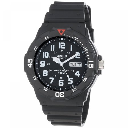 Men's 43mm Analog Dive-Style Watch, Black Resin (Dive Watch Resin Case)