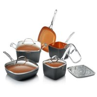 Gotham Steel Non-Stick 10 Piece Square Frying Pan and Cookware Set – As Seen on TV!