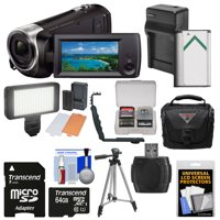 Sony Handycam HDR-CX405 1080p HD Video Camera Camcorder with 64GB Card + Battery & Charger + Case + LED Light + Tripod + Kit