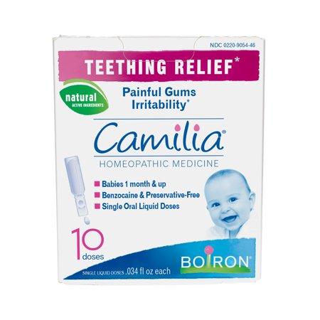Boiron Camilia Baby Teething Relief Liquid Unit-Doses, 10 Ct