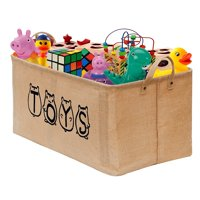 "20"" Toy Storage Bin Organizer, Gimars Large Toy Box Basket Chest for Kids Girls Boys Baby Toddler, Ideal for Kids Room and Playroom Storage"