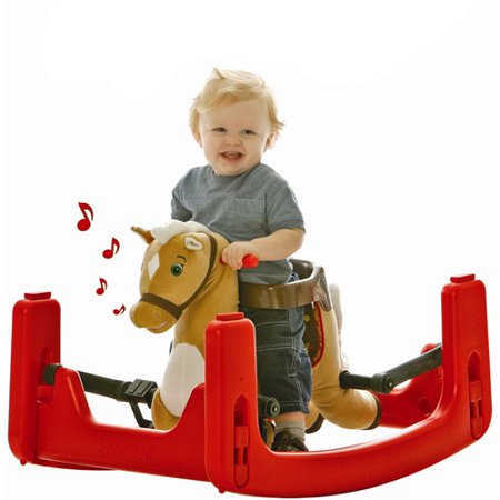 Rockin' Rider Legacy Grow with Me Pony Ride-On, Rocker, Bouncer Convertible to Spring Horse ()