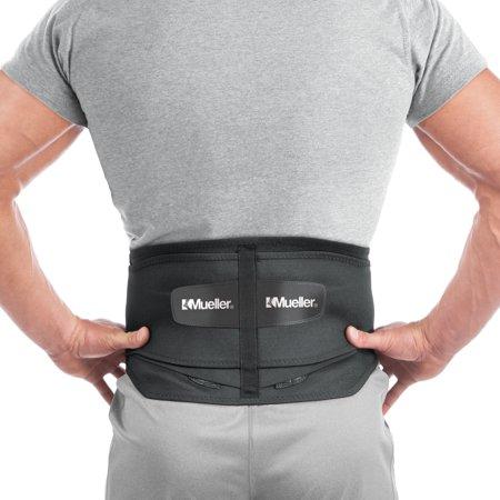 Rear Lower Arm Brace (Mueller Adjustable Lumbar Back Brace with Removable Pad, Regular, Fits Waist Sizes 28