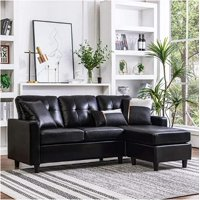 Deals on XKEEK PU Leather Combination Sofa Black