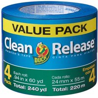 Duck Brand Clean Release Painter's Tape, .94 in. x 60 yd., Blue, 4-Count