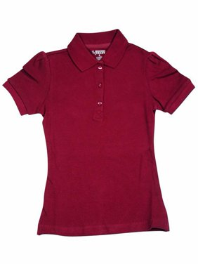 French Toast Short Sleeve Stretch Pique Polo Girls Red 12