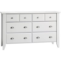Child Craft Relaxed Traditional Double Dresser, White