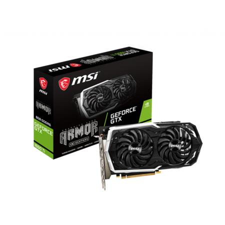Msa Video (MSI GeForce GTX 1660 Ti GTX 1660 TI ARMOR 6G OC 6GB 192-Bit GDDR6 PCI Express 3.0 Video Card)