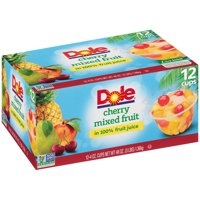(24 Cups) Dole Fruit Bowls Cherry Mixed Fruit in 100% Fruit Juice, 4 oz cups