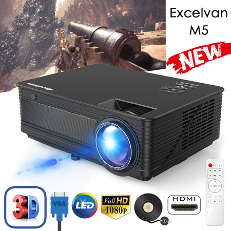 - Excelvan M5 LED Projector 120