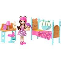 Enchantimals Dreamy Bedroom Playset + Bren Bear Doll & Snore Figure