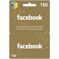 Facebook $50 eGift Card (Email Delivery)