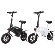 Excelvan Folding E-Bike Collapsible Electric Bike with High-Torque 250W Motor and Dual Disc Brakes, Maximum speed 20km/h, 12'' Wheels, 20+ Mile Range