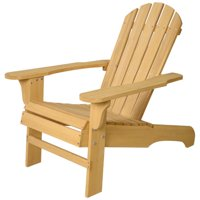 Costway Outdoor Natural Fir Wood Adirondack Chair Patio Lawn Deck Garden Furniture