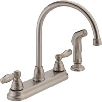Peerless 2-Handle Kitchen Faucet with Side spray, Stainless Steel