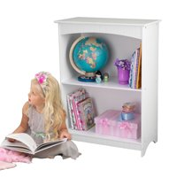 KidKraft Nantucket Kids Bookcase, Wooden 2-Shelf, White