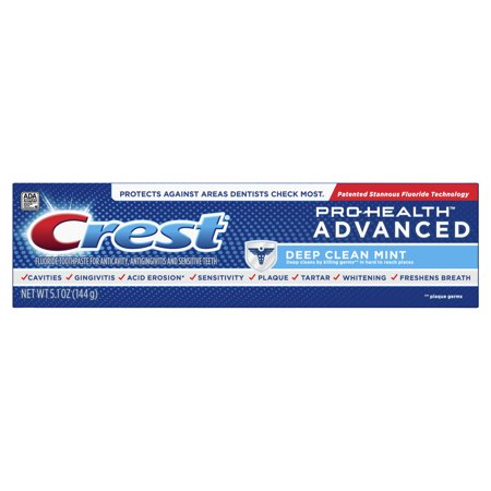 Crest Pro-Health Advanced Deep Clean Mint Toothpaste, 5.1 - Crest Toothpaste Halloween