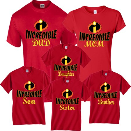 Halloween Matching Christmas T-Shirts Incredible Family MOM DAD KIDS GoCustom](Clever Halloween Shirts)