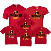 09b4aaa42 Halloween Matching Christmas T-Shirts Incredible Family MOM DAD KIDS  GoCustom