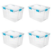 Sterilite 80 Qt./76 L Gasket Box, Blue Aquarium, Case of 4