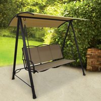 Classic Outdoor 3-Person Sling Canopy Porch Swing