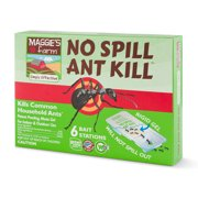 Maggie's Farm No Spill Ant Kill Bait Stations, 0.25 oz., Pack of 6