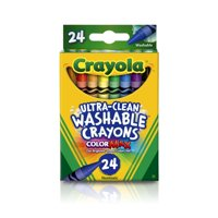 Crayola Ultra-Clean Washable Crayons, School Supplies, 24 Count