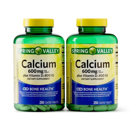 Spring Valley Calcium Coated Tablets, 600mg, 250 Ct, 2