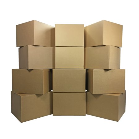 Uboxes Large Moving Boxes, 20x20x15in, 12 Pack, Cardboard Boxes (Moving Box 24x24x24)