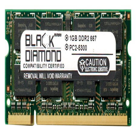 1GB Memory RAM for HP Pavilion Notebooks Dv2121TU 200pin PC2-5300 667MHz DDR2 SO-DIMM Black Diamond Memory Module Upgrade 200 Pin Sodimm Notebook Memory