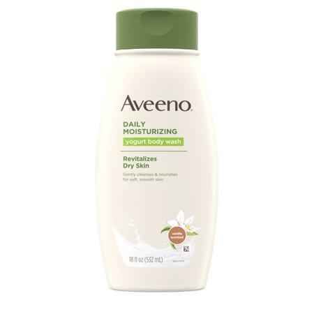 Aveeno Daily Moisturizing Yogurt Body Wash for Dry Skin, 18 fl. oz