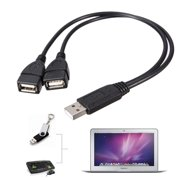 M.way USB 2.0 A Male To 2 Dual USB Female Jack Y Splitter Hub