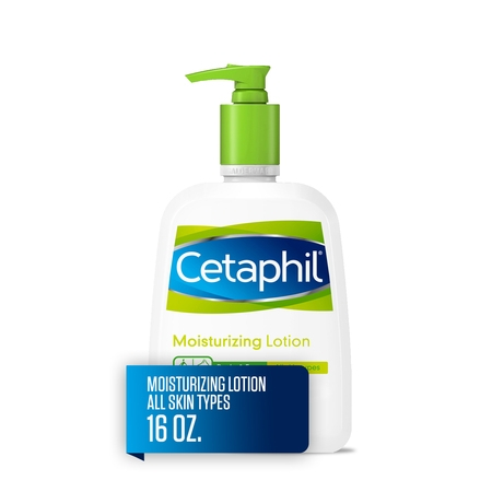 Cetaphil Moisturizing Lotion for All Skin Types, Fragrance-Free, 16 fl oz ()