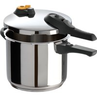 T-fal, ExpertPro Stainless Steel, P25107, Induction Compatible Cookware, 6.3 Qt. Pressure Cooker, Silver