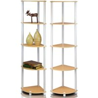 Furinno 2-99811 Turn-N-Tube 5-Tier Corner Multipurpose Display Shelves