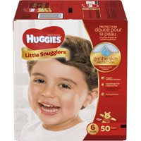 HUGGIES Little Snugglers Diapers, Size 6, 50 Count