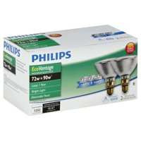 Philips 72w 120v PAR38 FL25 2900k EcoVantage Halogen Light Bulb - 2pack