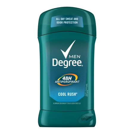 - Degree Men Cool Rush 48 Hour Protection Antiperspirant Deodorant Stick, 2.7 oz