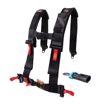 Tusk 4 Point 3 inch H-Style Safety Harness Driver Side for Polaris RANGER RZR XP 1000 TRAILS AND ROCKS Edit.