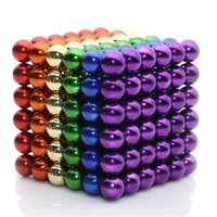 5MM 216 Pieces Multicolored Magnetic Balls MagnetsToys Sculpture Building Magnetic Blocks Magnet Cube Gift for Intellectual Development Office Toy Stress Relief Gift for Teens and Adult 8 Color