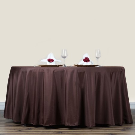 "Efavormart 70"" Round Polyester Tablecloth for Kitchen Dining Catering Wedding Birthday Party Decorations Events"