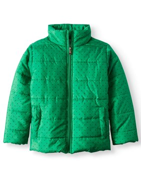Product Image Bocini Tonal Dot Puffer Jacket (Little Girls \u0026 Big Girls) BOCINI Little Coats Jackets - Walmart.com