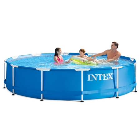 Intex Above Ground Pools - Intex 12' x 30'' Metal Frame Above Ground Swimming Pool with Filter Pump
