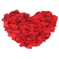 Pack of 1000 Pcs Artificial Rose Petals for Wedding Flower Decoration, Gradient Red