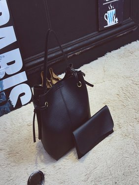 2Pcs Women PU Leather Purses and Handbag Travel Outdoor Large Crossbody Messenger