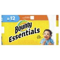 Bounty Essentials Paper Towels, White, 8 Giant Rolls = 12 Regular Rolls