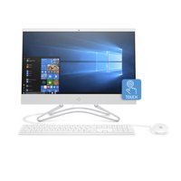 HP 22-C0030 Snow White Touch All in One PC, Intel Core i3-8130U Processor, 4GB Memory, 1TB Hard Drive, Intel UMA Graphics, Windows 10, DVD, Keyboard and Mouse
