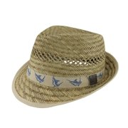 Guy Harvey 50s Style Straw Fedora Hat w Khaki Marlin Band 4c7eb1095f35