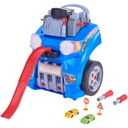 Kid Connection Take-Apart Engine & Race Track Set with Working Headlights and Horn